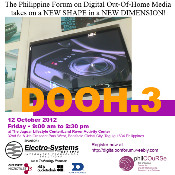 The Philippines' Event for Digital Out-Of-Home Media Happens at the BGC on October 12!