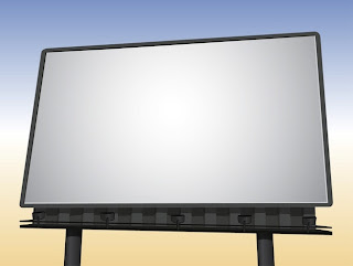 valla publicitaria mockup vector