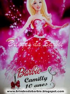kit maquiagem barbie, barbie moda e magia, brinde barbie moda e magia, lembrancinha barbie moda e magia, tema barbie moda e magia