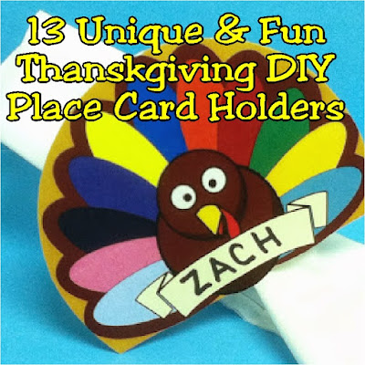 Add any of these thirteen DIY Thanksgiving place card holders to your Thanksgiving table for a fun and unique table decoration. Each place card is easy to put together but adds a lot of flair to your Thanksgiving decor.