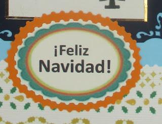 TARJETA NAVIDEÑA TRES ESFERAS DE NAVIDAD