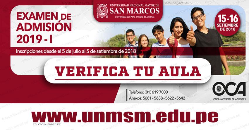 UNMSM: Aulas y Puertas de Ingreso Examen Admisión San Marcos 2019-1 (Sábado 15 y Domingo 16 Septiembre) Verifica tu Local - Universidad Nacional Mayor de San Marcos - www.unmsm.edu.pe