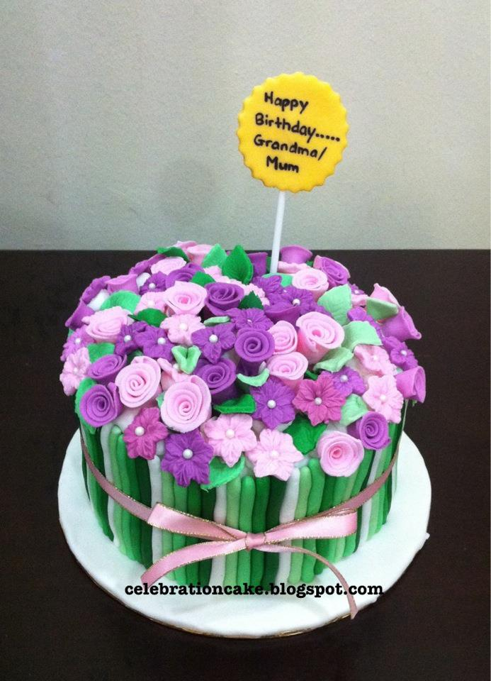 Celebration Cake Flower Theme Cake
