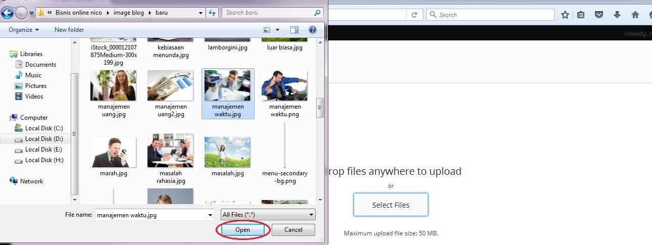 cara menambahkan gambar artikel