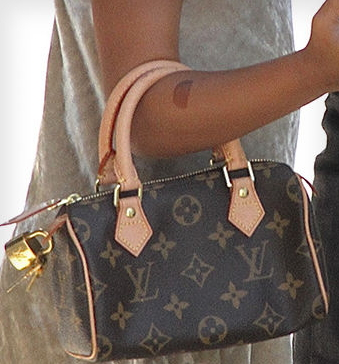 north west carries $1000 LV bag new york