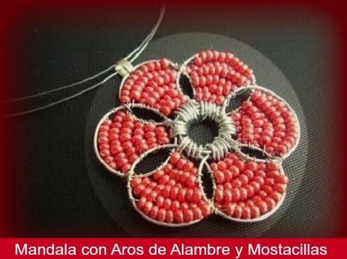 Como hacer un Mandala y una Pulsera con Aros de Alambre