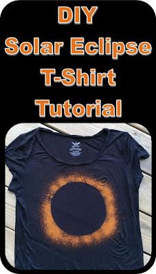 DIY solar eclipse t-shirt tutorial