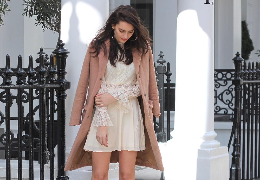 pink coat lace dress occasionwear