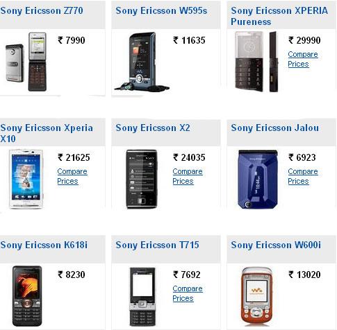 Sony ericsson android phones price list in india