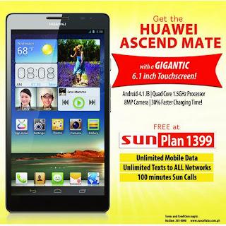 Huawei Ascend Mate Sun Plan