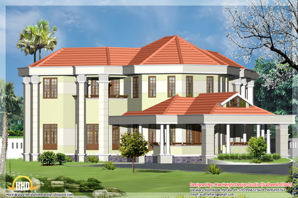 5 beautiful indian house elevations kerala home design for Indian style home plans
