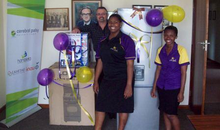 The Hollywoodbets Sgt Peppers team with their donations to the Cerebral Palsy Association - Port Elizabeth
