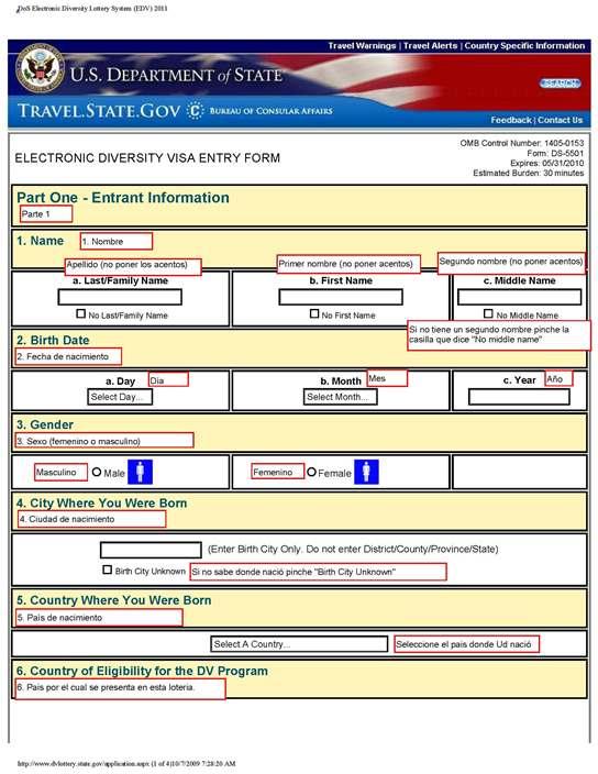 Loteria de Visas Americanas (Diversity Visa-Green card Lottery ...