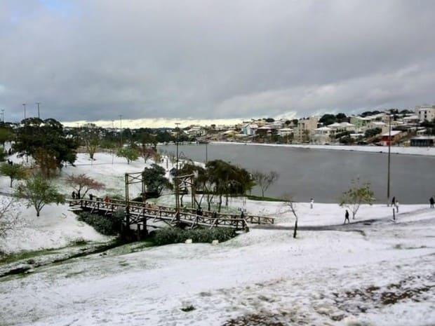 Previsão de neve ou chuva congelada em Santa Catarina