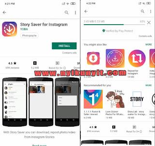 cara simpan story instagram orang lain