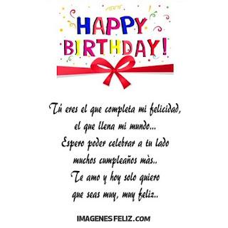 Feliz Cumpleaños Amor Mensajes y tarjetas de happy birthday