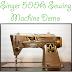 "Singer 500A ""Rocketeer"" Sewing Machine Demo"