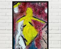 Cuadro abstracto Amarillo Rojo