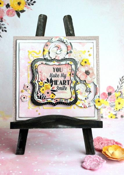 You Make My Heart Smile Fine Art by Ulrika Wandler using BoBunny Petal Lane collection