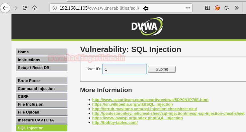 Shell uploading in Web Server using Sqlmap