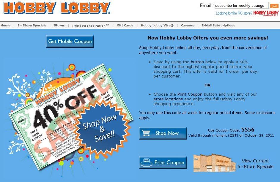 Hobby Lobby Coupon Mobile Valvoline Transmission Flush Coupon