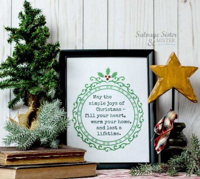 Simple Joys Christmas Printable