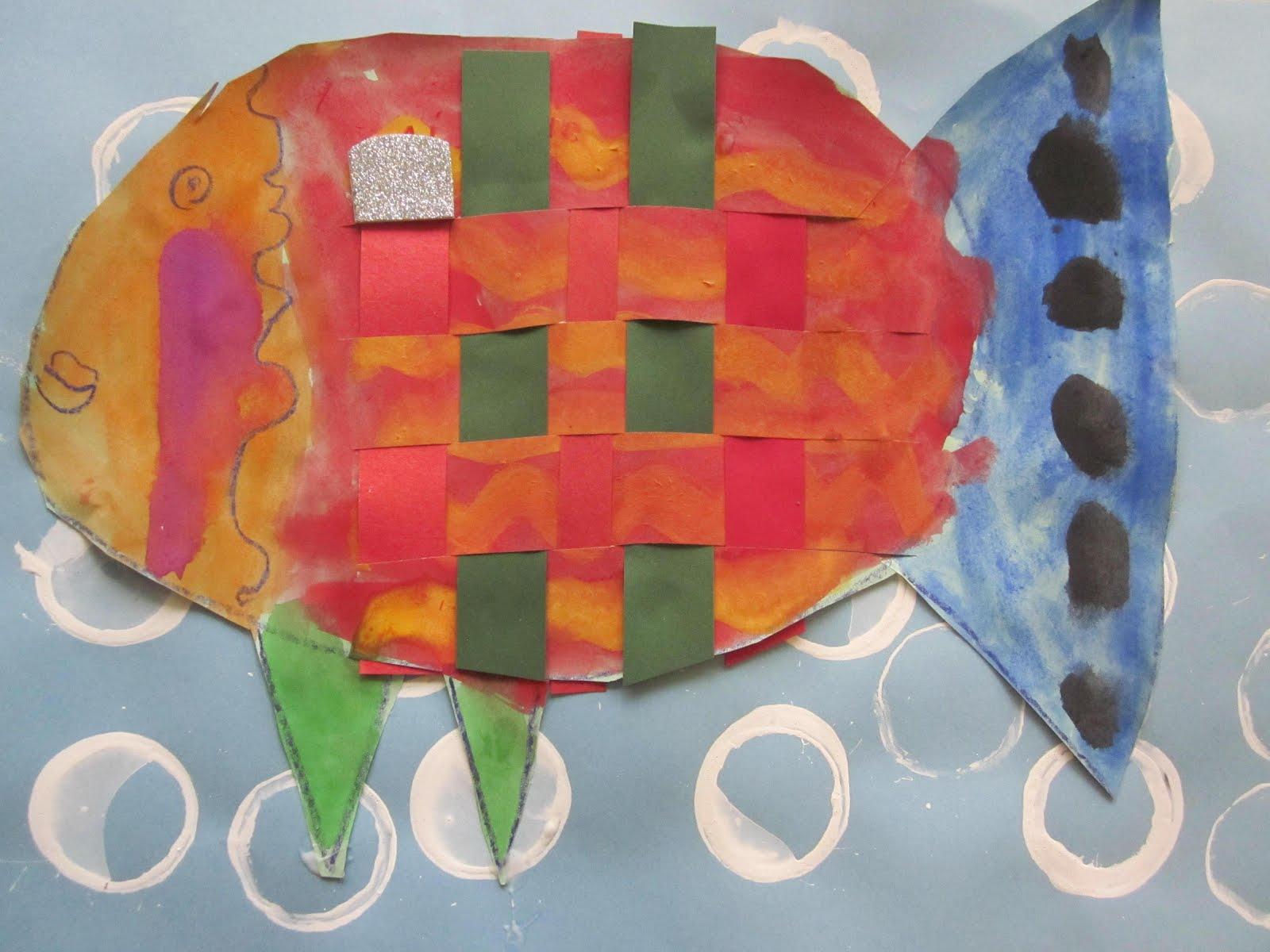 The Lake Forest Louvre Kindergarten Woven Rainbow Fish