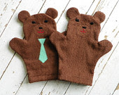 baby bear washcloth from busy bonnie bee