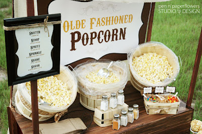 old fashioned popcorn bar
