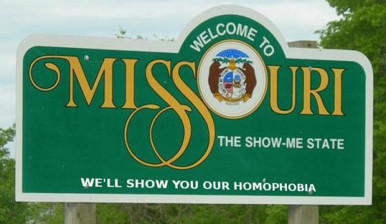 Welcome to Missouri homophobia