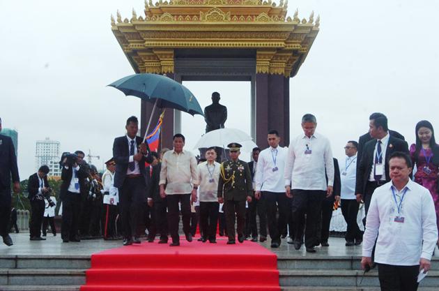 Duterte à Phnom Penh : Preah Borom Ratanak Kaudh