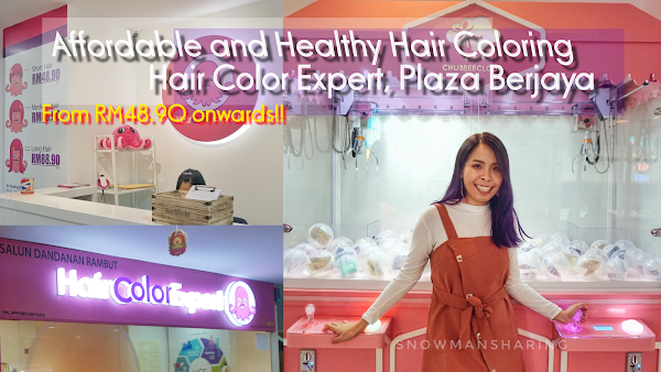 Affordable and Healthy Hair Coloring Journey with Hair Color Expert, Plaza Berjaya