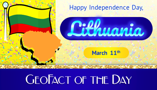 Info box showing that Lithuania celebrates another Independence Day on March 11th
