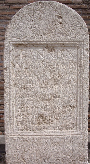 Gravestone of an Ubian bodyguard for Nero