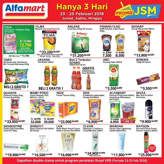 Katalog Promo ALFAMART JSM Akhir Pekan Weekend Periode 23 - 25 Februari 2018