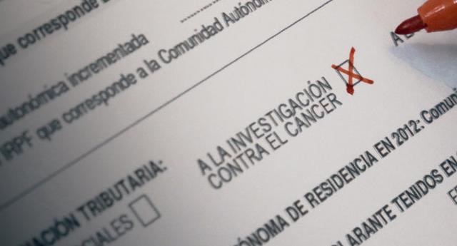 Queremos una casilla para la investigación contra el cáncer en la Declaración de la Renta