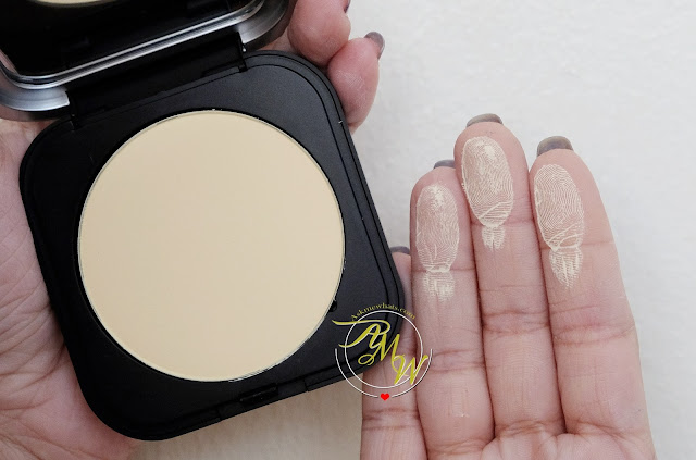 a swatch photo of Make Up For Ever Ultra HD Microfinishing Pressed Powder Review by Askmewhats Nikki Tiu