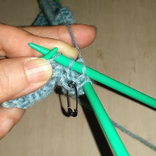 滑り目で作る編み模様の編み方, how to knit a pattern used slip stitch, 以滑针构成的棒针编织花样
