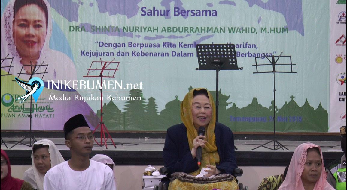 Di Temanggung, Shinta Nuriyah Ajak Penyandang Disabilitas Sahur Bersama