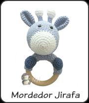 Mordedor jirafa a crochet