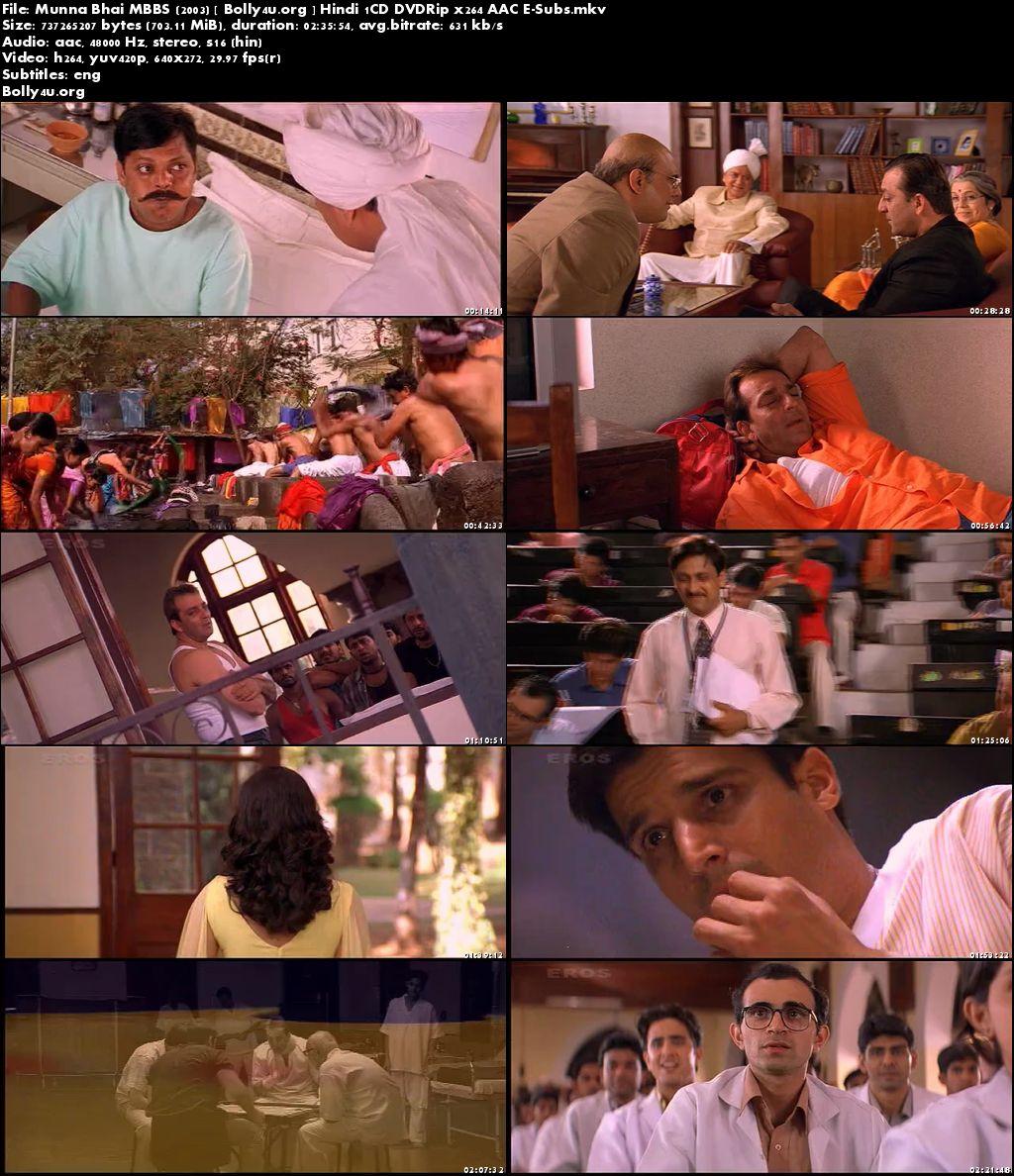 Munna Bhai MBBS 2003 DVDRip 450MB Full Hindi Movie Download 480p