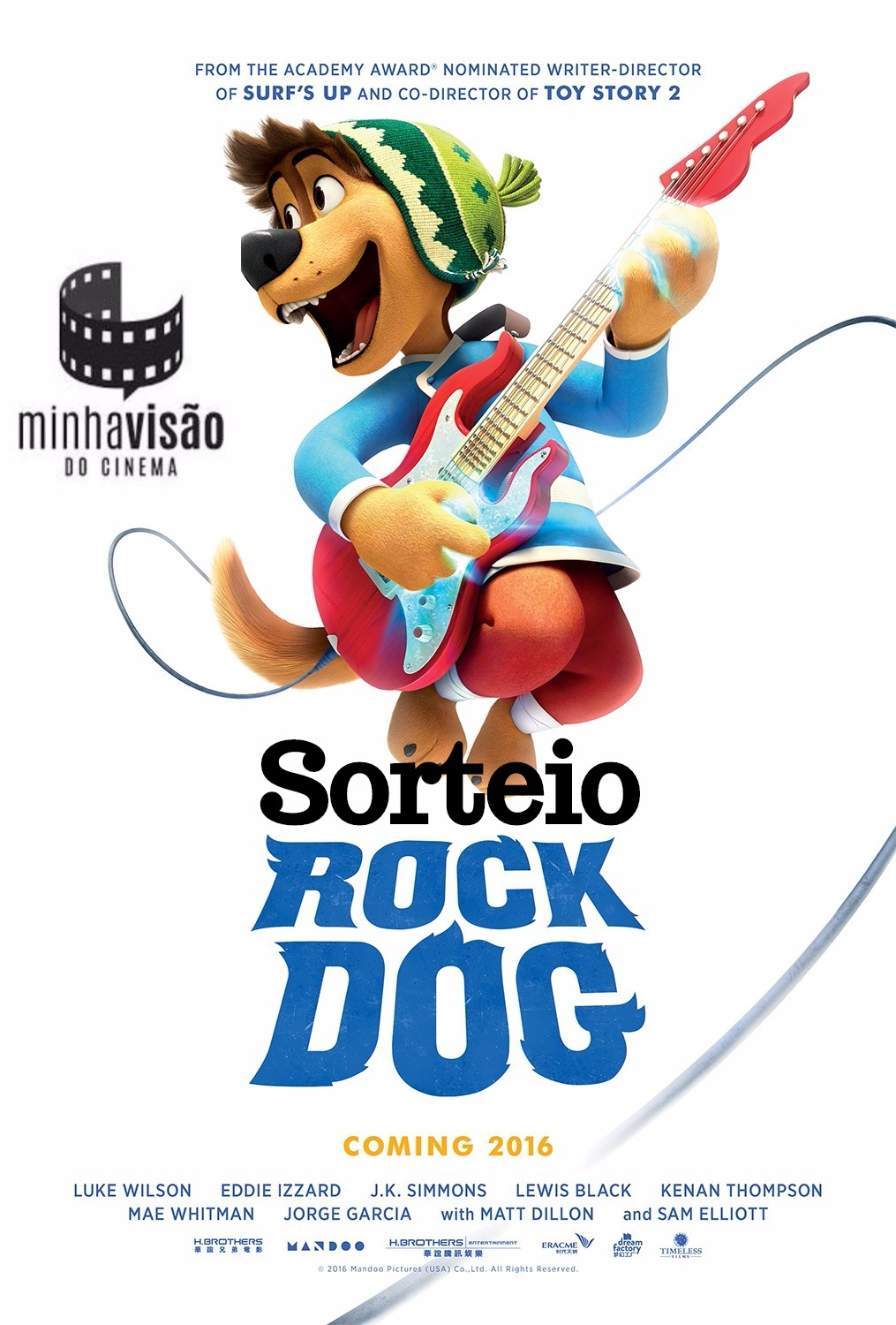 Sorteio de 3 pares de ingressos para o filme 'Rock Dog'!