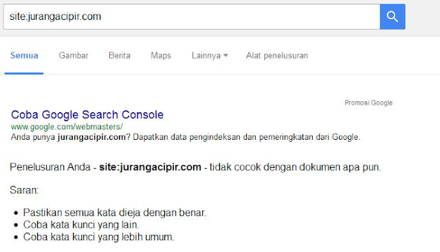 Baru Baru Ini Blog Juragan Cipir Hilang dari Mesin Pencari Google