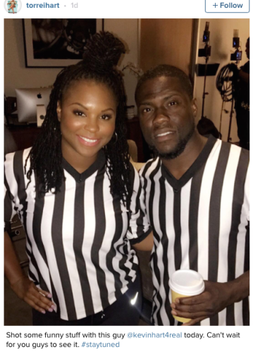 Kevin Hart and his ex-wife, Torrei Hart working together