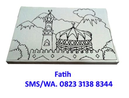 Paket Mewarnai Kanvas Masjid