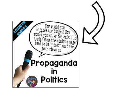 https://www.teacherspayteachers.com/Product/Its-An-Election-Year-Propaganda-in-Politics-Freebie-1439350