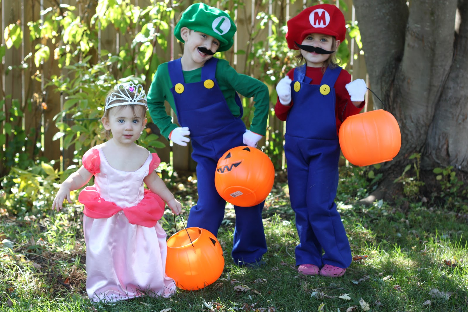 Mario and peach costume