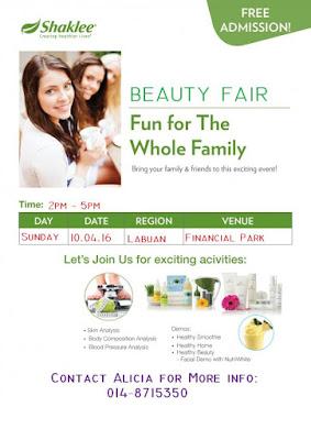 Labuan; Shaklee Labuan; Labuan beauty Fair
