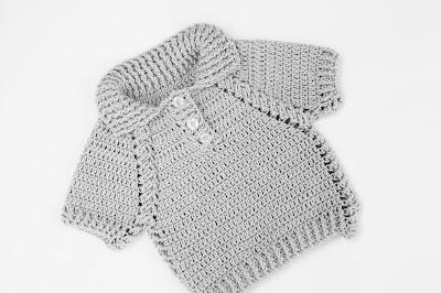 5 - Crochet IMAGEN Jersey de niño y niña a crochet muy facil y rapido
