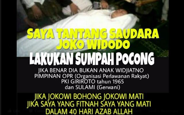 Kirim Surat Terbuka Untuk Jokowi, Faizal Muhammad TANTANG Lakukan Sumpah Pocong
